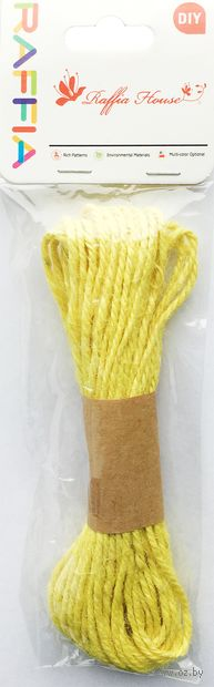 Шнур декоративный (светло-желтый; 10 м) — фото, картинка