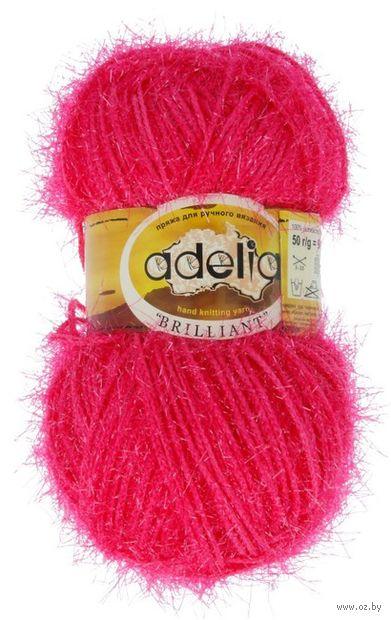 "Пряжа ""Adelia. Brilliant №23"" (50 г; 90 м; ярко-розовый) — фото, картинка"