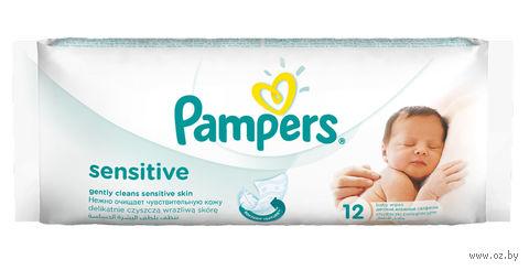 """Влажные салфетки детские """"Pampers Sensitive"""" (12 шт.)"""