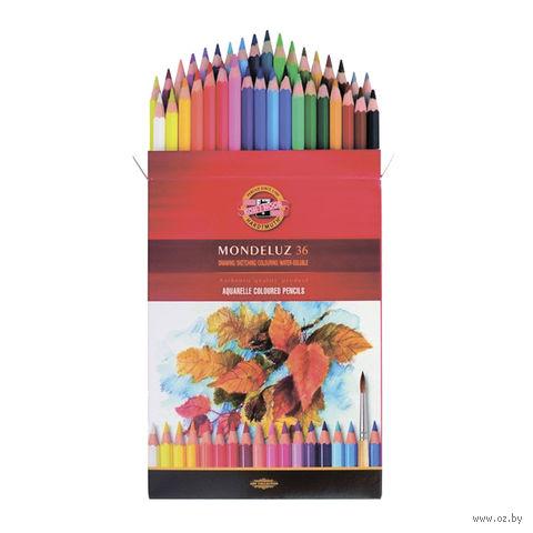 """Набор карандашей цветных акварельных """"Mondeluz"""" (36 цветов)"""