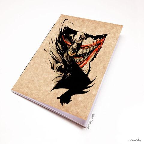 """Блокнот крафт """"Бетмен и Джокер"""" (А5)"""