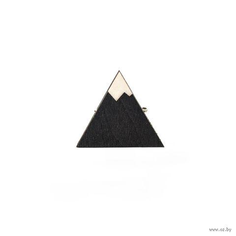 """Значок деревянный """"Гора"""" — фото, картинка"""
