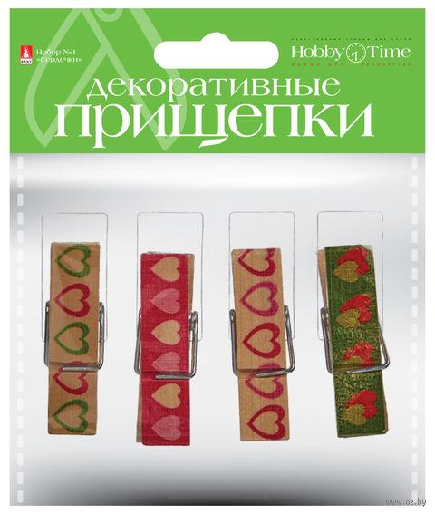 "Набор прищепок декоративных ""Сердечки"" — фото, картинка"