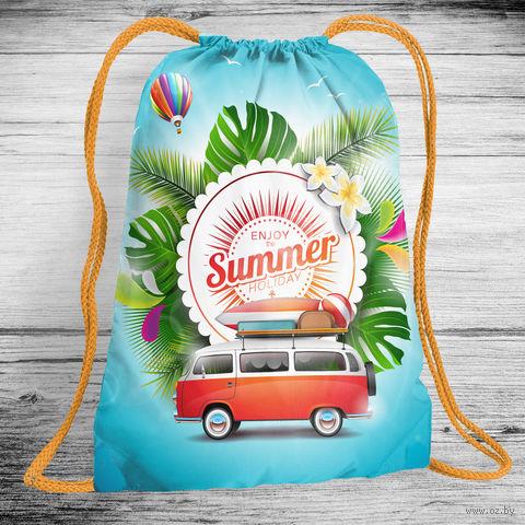 """Рюкзак-мешок """"Наслаждайся летом"""" (арт. 6) — фото, картинка"""