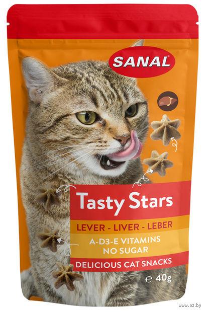"Лакомство для кошек ""Tasty Stars Liver"" (40 г; печень) — фото, картинка"
