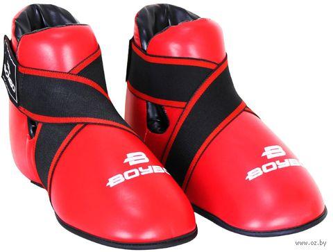 Футы для тхэквондо/кикбоксинга (XL; красные) — фото, картинка