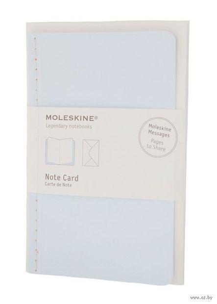 """Почтовый набор Молескин """"Note Card"""" с конвертом (карманный; мягкая голубая обложка)"""
