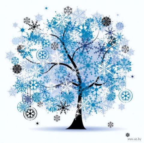 """Алмазная вышивка-мозаика """"Новогоднее дерево"""" (500х500 мм) — фото, картинка"""