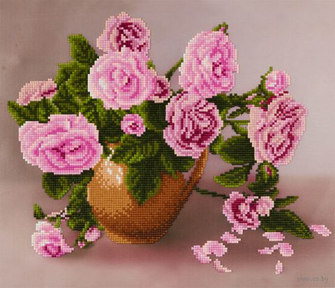 "Алмазная вышивка-мозаика ""Розы"" (300х350 мм) — фото, картинка"