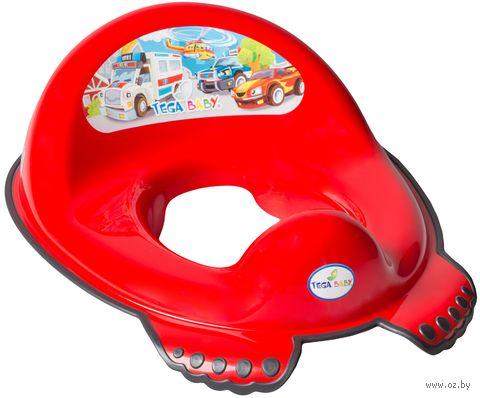 """Накладка для унитаза детская """"Машинки"""" (красная; 30х40х15 см) — фото, картинка"""