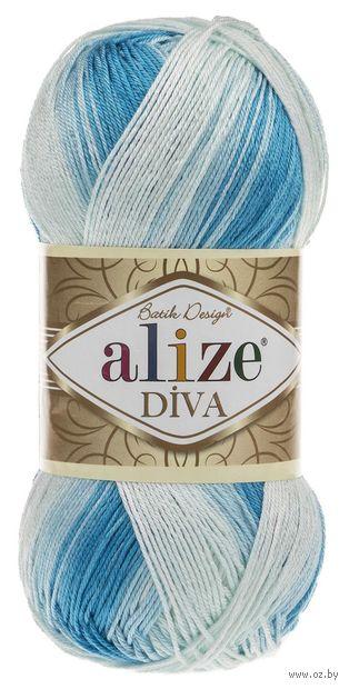 """Пряжа """"ALIZE. Diva Batik Design №2130"""" (100 г; 350 м; секционный) — фото, картинка"""