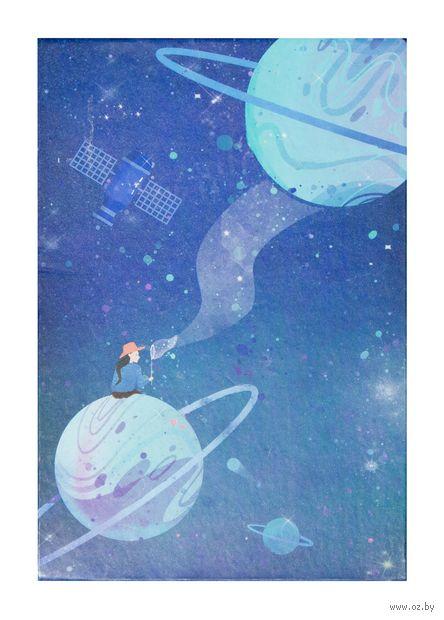 """Зеркало настольное """"Космос. Голубые планеты"""" (арт. KW006-000035) — фото, картинка"""