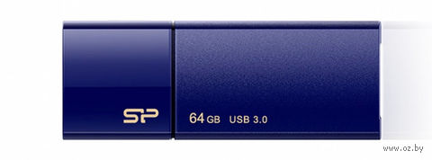 USB Flash Drive 64Gb Silicon Power Blaze series B05 USB 3.0 (Deep Blue)