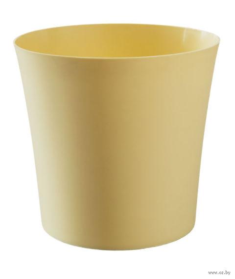 """Цветочный горшок """"Фиолек"""" (12,5 см; желтая пастель) — фото, картинка"""
