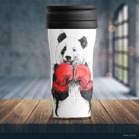 "Термостакан ""Панда-боксер"" — фото, картинка"