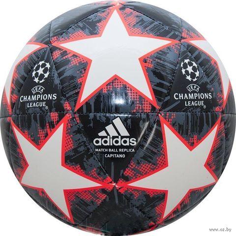 """Мяч футбольный Adidas """"Finale 18 Capitano"""" №5 (красный) — фото, картинка"""
