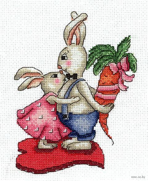 """Вышивка крестом """"Любовь-морковь"""" (120х160 мм) — фото, картинка"""