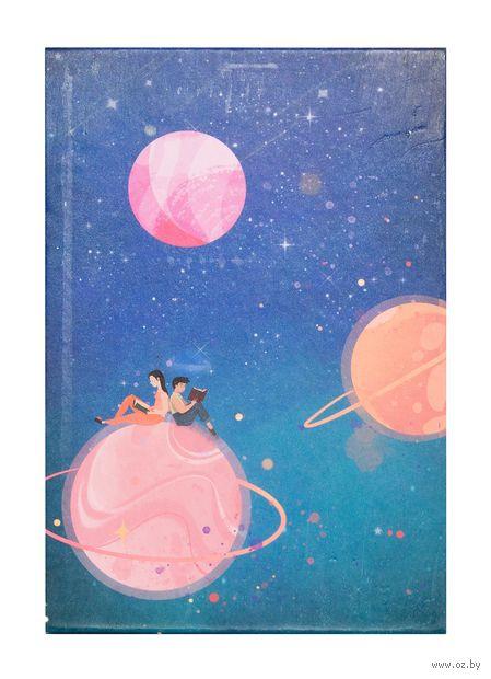 """Зеркало настольное """"Космос. Розовые планеты"""" (арт. KW006-000036) — фото, картинка"""