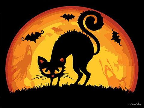 "Картина по номерам ""Хэллоуинская кошка"" (165х130 мм) — фото, картинка"