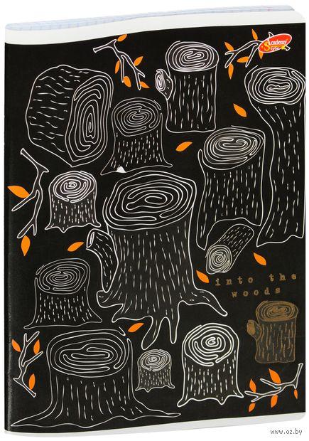 """Тетрадь полуобщая в клетку """"Into the Woods"""" (48 листов; в ассортименте) — фото, картинка"""