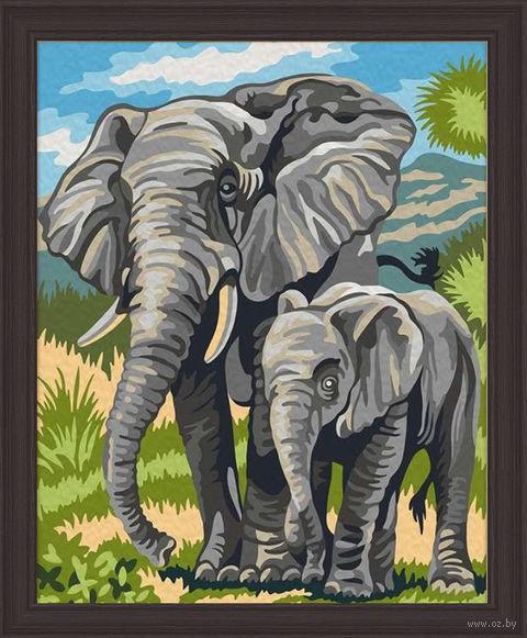 "Картина по номерам ""Слоны"" (400х500 мм) — фото, картинка"