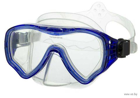 Маска для плавания 428 (силикон; синяя) — фото, картинка