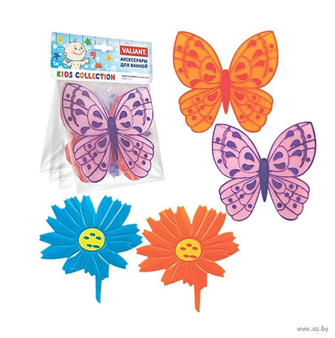 "Набор игрушек для купания ""Бабочки-цветочки"" (4 шт.) — фото, картинка"
