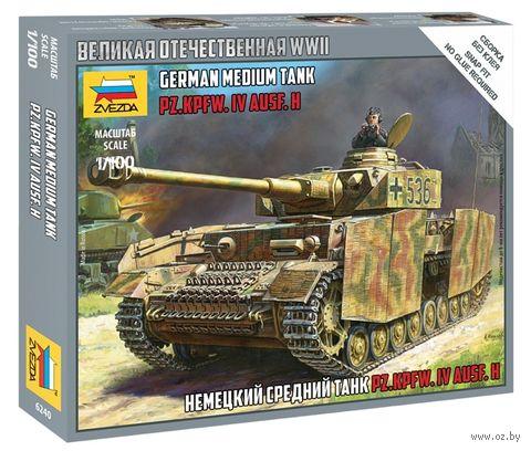 "Сборная модель ""Немецкий средний танк Т-4Н Pz.Kpfw.IV Ausf.H"" (масштаб: 1/100) — фото, картинка"