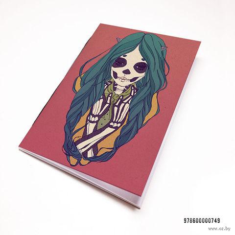 """Блокнот """"Девушка-скелет"""" (А7; арт. 749) — фото, картинка"""