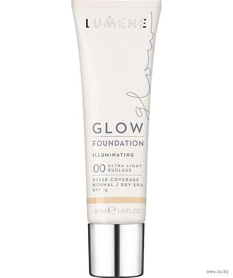 """Тональный крем для лица """"Glow Foundation Illuminating"""" SPF 15 тон: 00, ultra light — фото, картинка"""