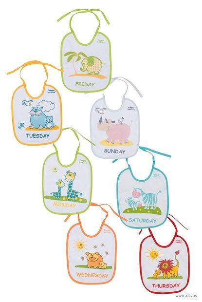 Набор хлопчатобумажных нагрудников с клеенчатой подкладкой (7 штук)