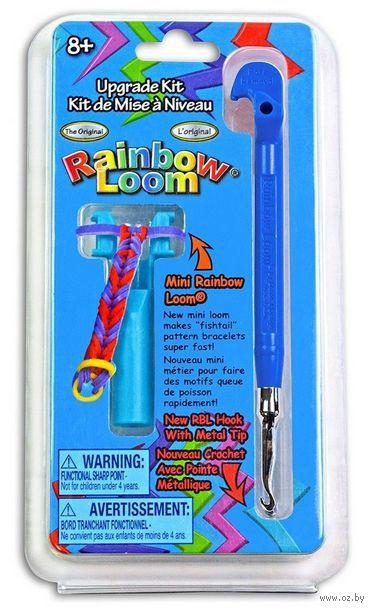 """Набор инструментов для плетения из резиночек """"Станок с крючком"""" (синий)"""