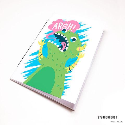 """Блокнот белый """"Динозавр"""" А7 (098)"""