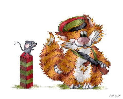 """Вышивка крестом """"Рыжий кот. Пограничник"""""""