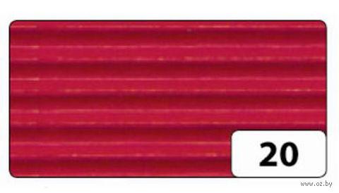 Картон гофрированный (красный; 0,5х0,7 м)