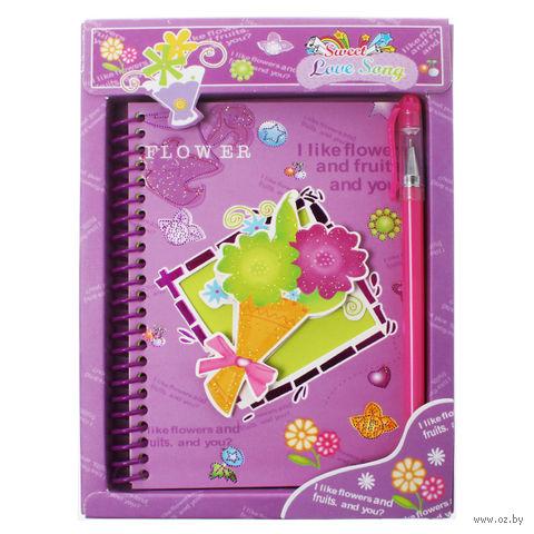 """Блокнот с замком и ручкой """"Darvish""""  (А6; арт. DV-1495; ассорти)"""