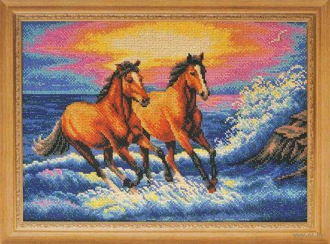 "Вышивка бисером ""Брызги моря"" (380х270 мм) — фото, картинка"