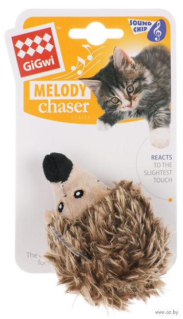 """Игрушка для кошек со звуковым чипом """"Ежик"""" (10 см) — фото, картинка"""