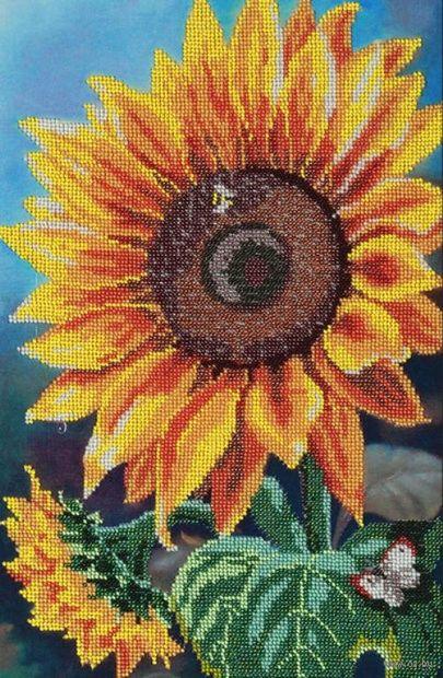 "Вышивка бисером ""Цветок солнца"" (250х390 мм) — фото, картинка"