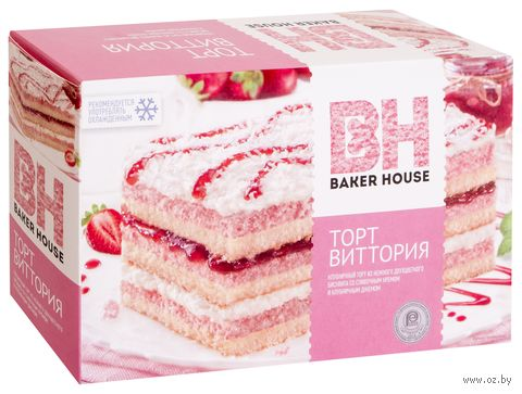 "Торт бисквитный ""Baker House. Виттория"" (350 г) — фото, картинка"