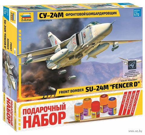 """Сборная модель """"Фронтовой бомбардировщик Су-24М"""" (масштаб: 1/72; подарочный набор) — фото, картинка"""
