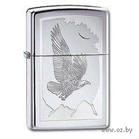 Зажигалка Zippo 21 069. Birds Of Prey. High Polish Chrome — фото, картинка