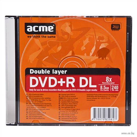 Диск двухслойный DVD+R 8,5Gb 2,4x Acme (100 шт.)