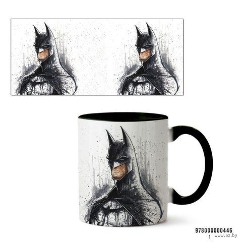 """Кружка """"Бэтмен"""" (арт. 446, черная)"""