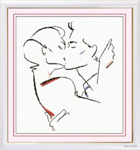 """Вышивка крестом """"Поцелуй"""""""