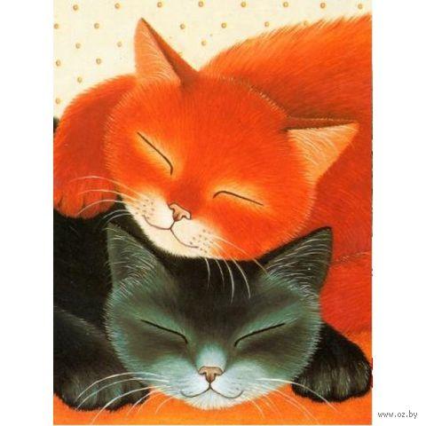 """Алмазная вышивка-мозаика """"Спящие коты"""" (300х400 мм) — фото, картинка"""