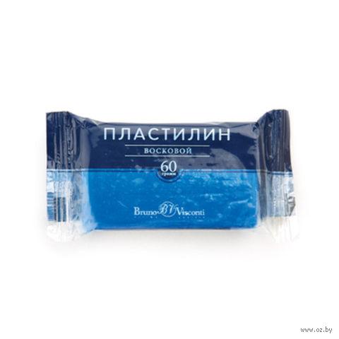 Пластилин восковой (60 г; синий) — фото, картинка