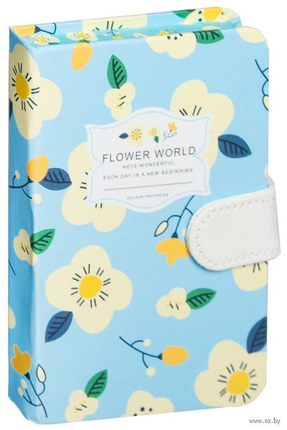 "Записная книжка в клетку ""Flower World"" (А6) — фото, картинка"