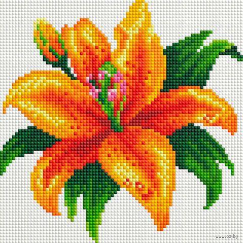 """Алмазная вышивка-мозаика """"Тигровая лилия"""" (200х200 мм) — фото, картинка"""
