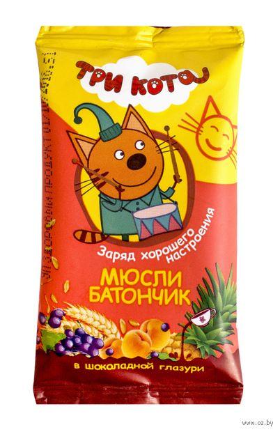 """Батончик в шоколадной глазури """"Три кота. Абрикос и злаки"""" (40 г) — фото, картинка"""